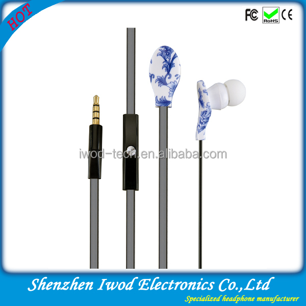 2014 handsfree plastic silicone earphone rubber cover bulk buy from China for samsung iphone mobile phone