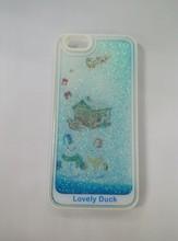 Factory Supply Unique Liquid Glitter Quickstand Mobile Phone Case for Apple iPhone 5/6/6 plus