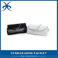 great quality hot sell fashion chains handbag patent leather stone pattern pu Small shoulder handbag