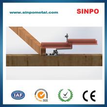 Aluminum solar panel brackets of roof hook for solar module