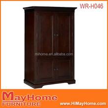 luxury living room furniture solid wood wardrobe /wooden closet