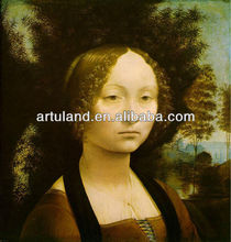 Cheap price leonardo da vinci handmade oil fabric painting