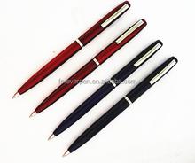 Hot sales promotional metal ball pen slim, thin advertising ball pen