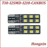 new type ! w5w 194 T10 12smd 1210 canbus car led bulb