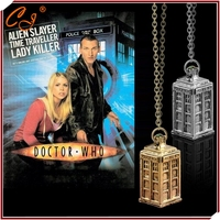 Dr Mysterious necklace doctor Who European film and television accessories high quality phone booth necklace