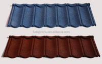 corrugated roof sheet pieces/low cost curved heat insulation stone coated metal roof tiles