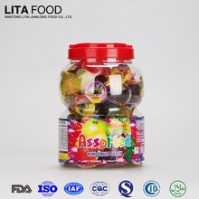 Halal Certificated Sweet Candy Assorted Fruit Jelly