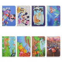 Cartoon Films Design Flip Stand PU Leather Tablet Cover Case For iPad mini 1/2/3