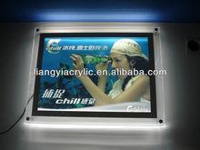 logo wire acrylic led photo frame display