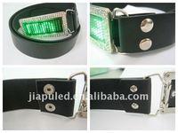 2015 Fashionable led name badges led buckles and belts(manufacturer&wholesale)