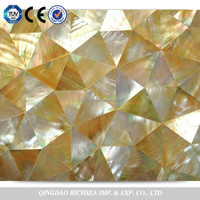 Irregular shape mother of pearl shell mosaic tile
