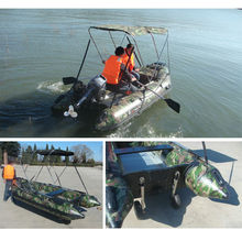 2015 China Factory PVC Hull High Quality Low Price Inflatable Boat With Sunshade