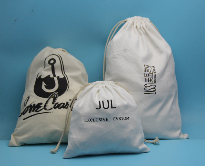 wholesale decorated calico cotton drawstring gift bags wedding favor pouch bags with cute design