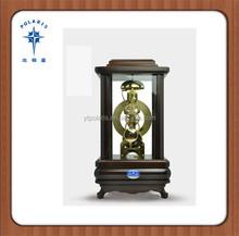 Wood Antique Mechanical Wooden Table Clock Desktop Clock
