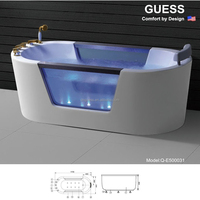 Acrylic hot tub/bath shower tub Q-E500031