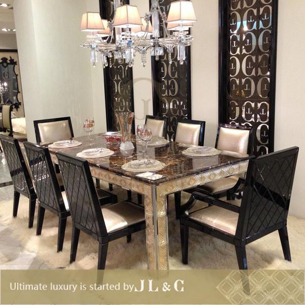 2014 nouveau cristal en bois table manger luxe table for Table salle a manger luxe