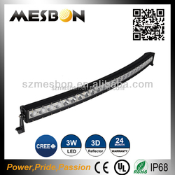 Factory price 180w curve led light bar 60pcs*3w auto accessory 36w curved led light bar for boat