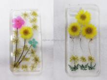 Factory make plastic hard case for iphone6,3d crystal flower cell phone case for iphone6