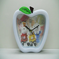 Fasion 3D Apple Shape Decorative Wall Clock for Promotional Gifts