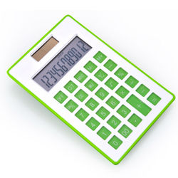 12 Digits Display Desktop Solar Power Calculator