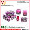 2015 Wholesale Pink Leopard Cosmetic Bags Travelling Maleup Cases