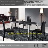 High quality new products mdf marble look dining table