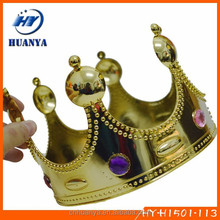 Latest Design Diamond Prince Crown Factory Queens Rhinestone Plastic Kings Crown