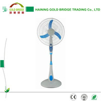 High quality 16 inch AC & DC 12V rechargeable fan solar fan for home
