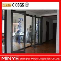 High luxury PVDF aluminum bifolding door with Germany fitting