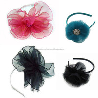Tulle flower headband - various styles - hair band head wrap