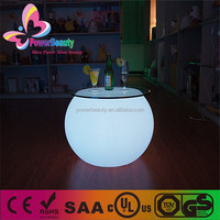 new style led rgb glowing plastic wholesale light up led cocktail bar tables