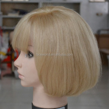 Stock fast shipping human hair band fall wig