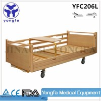 YFC206L Manual Hospital Wooden Bed Hospital Furniture