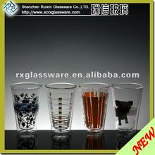 2012 Hot Selling Borosilicate Juice Glass Cup With Logo