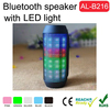 2015 super bass bluetooth portable outdoor speaker with led light flash