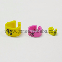 4000pc free shipping 14mm clips ring for pigeon,poultry open ring plastic and 200pc custom bands
