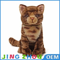Cheap hot sale lifelike cat plush toy, toy cats that look real