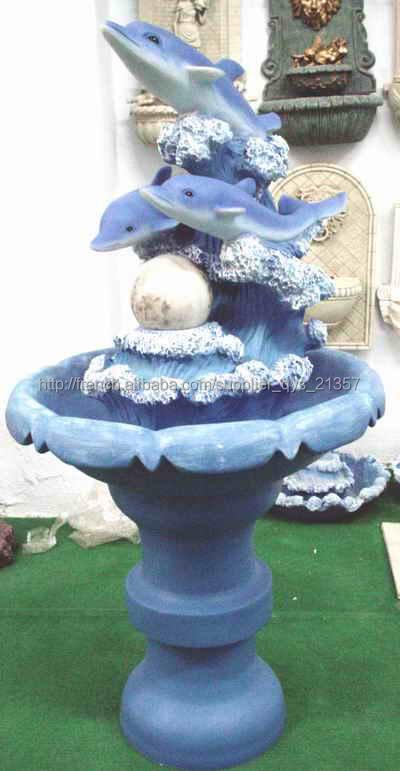 Belle Fontaine de Jardin en Résine Pompe à Eau Statues de ...