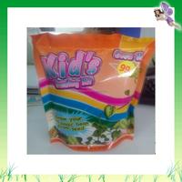 Original paper bag planter with seeds in garden