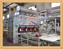 production line for laminated MDF board