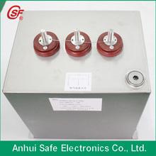 de alto voltaje de polipropileno condensador de la película de impulso equipo condensador