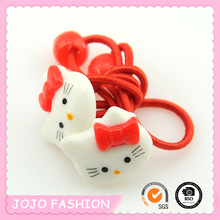 New Style Red Cat Picture Thin Hair Elastic Band for Girls