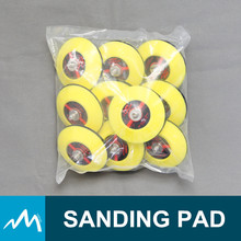 Promotional plastic sanding pad on a pole for air sander