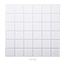 2x2 Inch thickness 8mm Crystal glass china mosaic tile