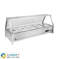 Commercial kitchen equipment keep warm table hot food display warmers for delivery for buffet