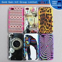 Various IMD Design 2 in 1 TPU Bottom +PC Frame Case For iPhone 4GS