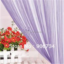 Solid color string decorative metal beaded door curtain