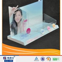 Hot sale Acrylic cosmetic display counter work with famous brands