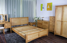 solid wood bed designs UK oak bed design plank bed