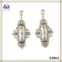 Classy Design Imitation Gold Jewelry Earring Models Cubic Earring For Girls